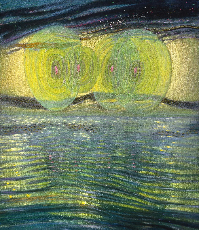 "Resonance   | oil on canvas | 42 x 36"" | 1993"