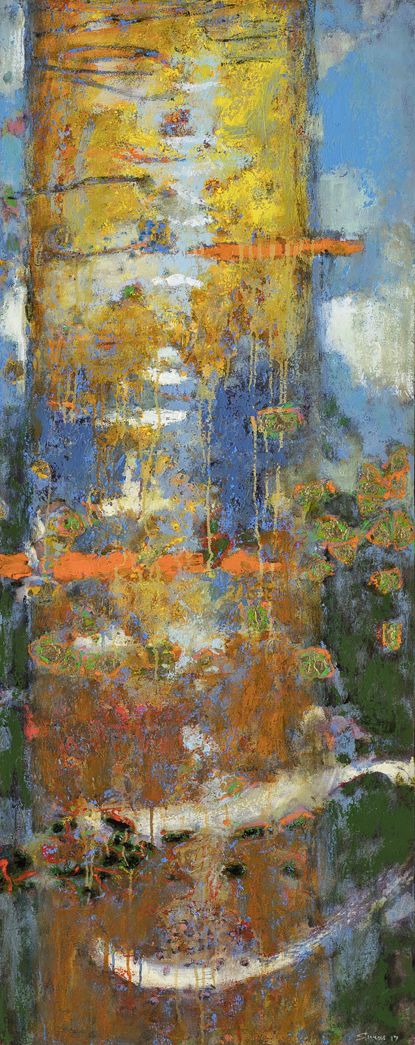 """Totemic Alchemy   oil on canvas   48 x 19"""""""