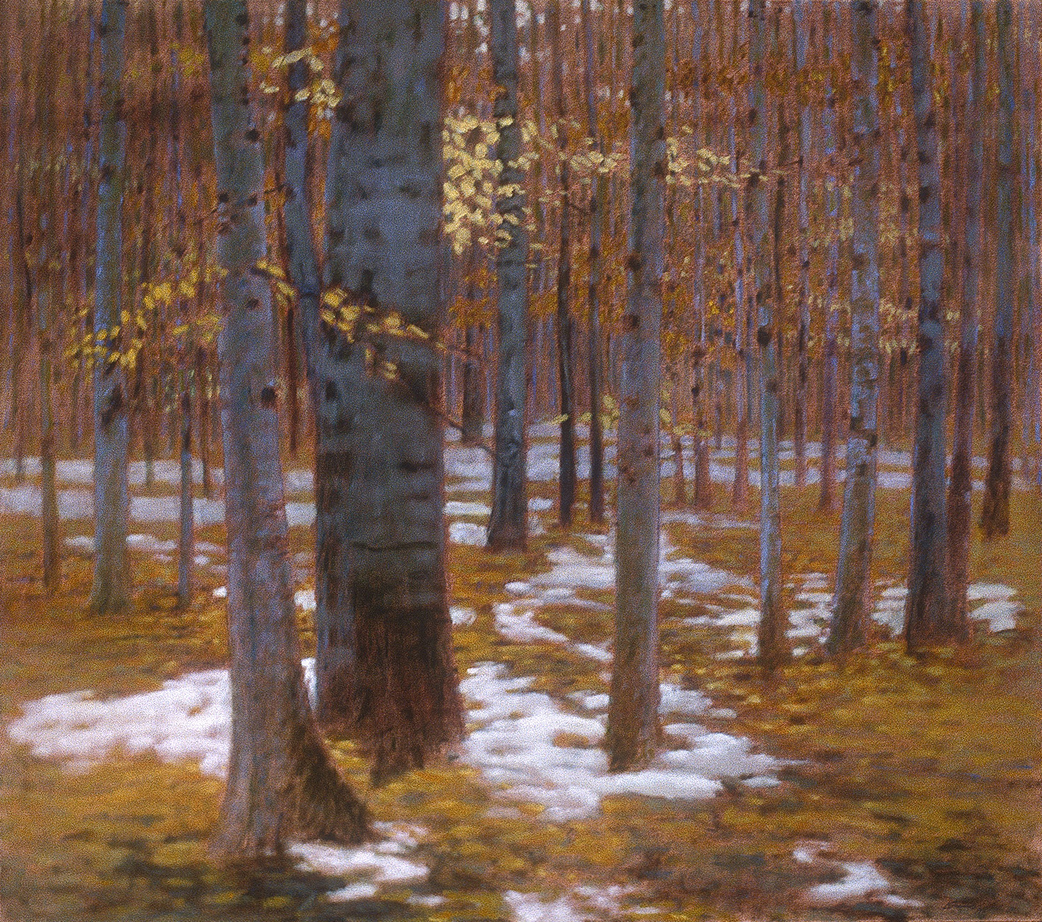 "Autumn Snow   | oil on canvas | 41 x 46"" | 1995"
