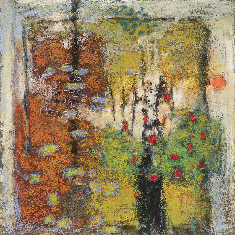 "Holding Pattern   | pastel on paper | 14 x 14"" | 2017"
