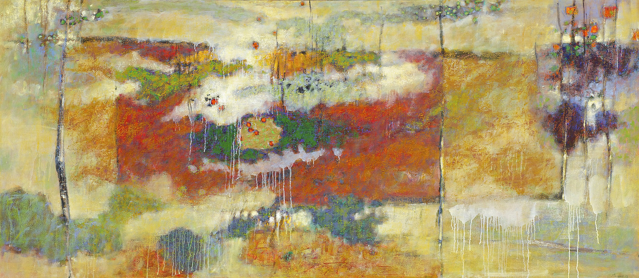 """The Outer Reaches     oil on canvas   35 x 80""""   2012"""