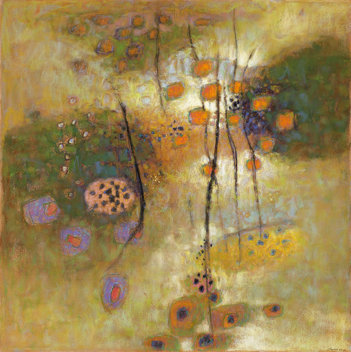Morning Jewels II   | pastel on paper | 31 x 32"