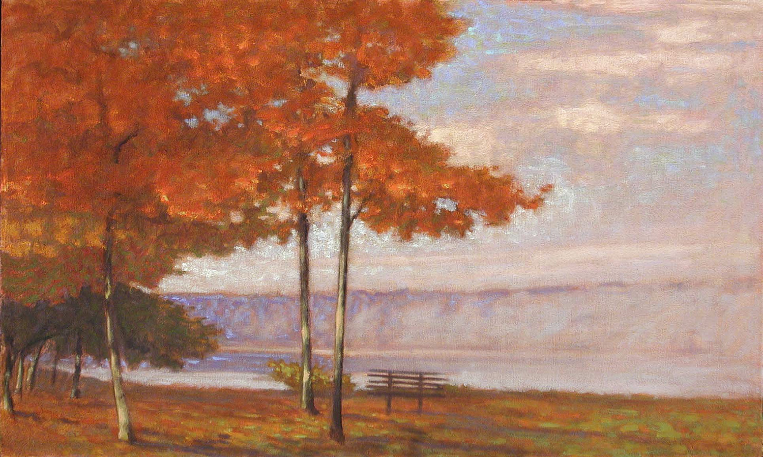 Morning on Long Lake   | oil on canvas | 24 x 40"