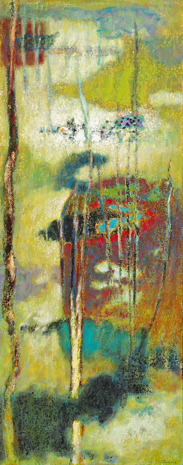 The Nature of What Arises   | oil on linen | 48 x 19"