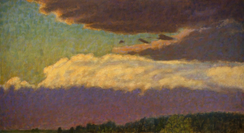 "110-01     oil on canvas   26 x 48""   2001"