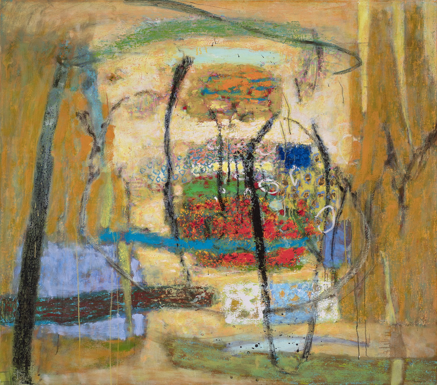 Gregarious Coalescing   | oil on canvas | 48 x 54"