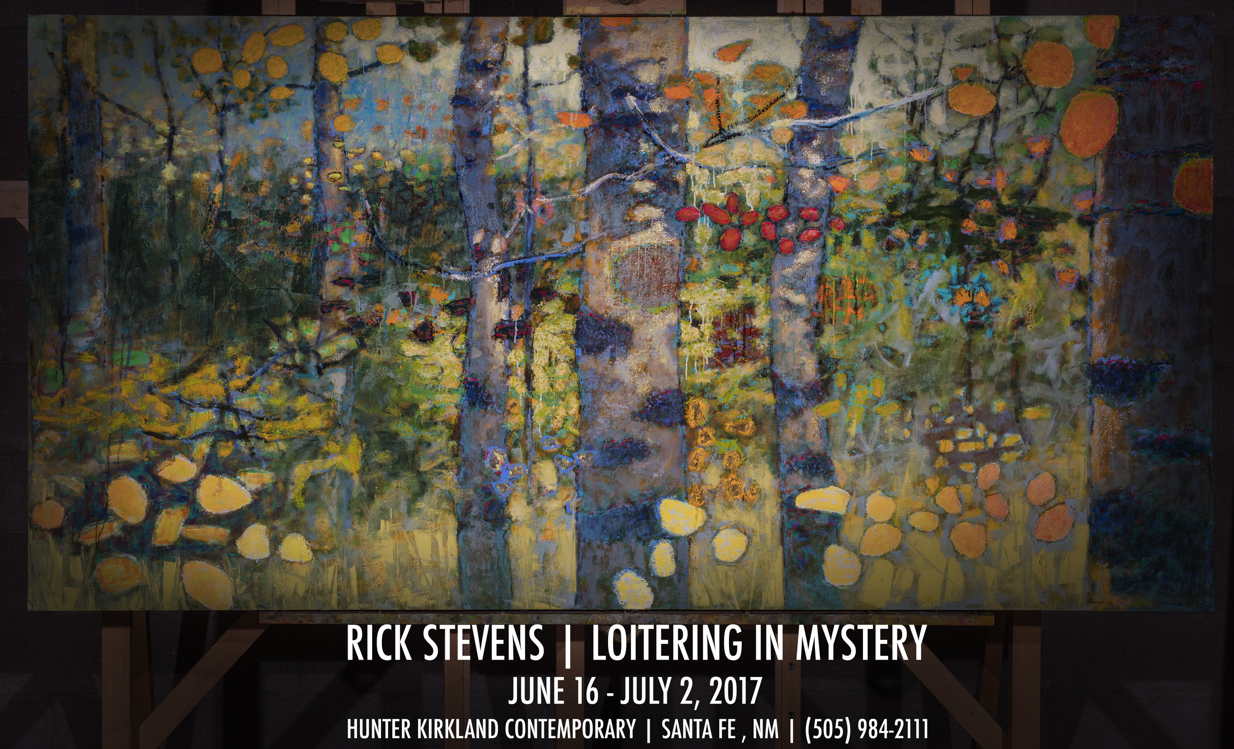 Rick's first solo exhibition of 2017 will be at Hunter Kirkland Contemporary in Santa Fe, opening June 16th.