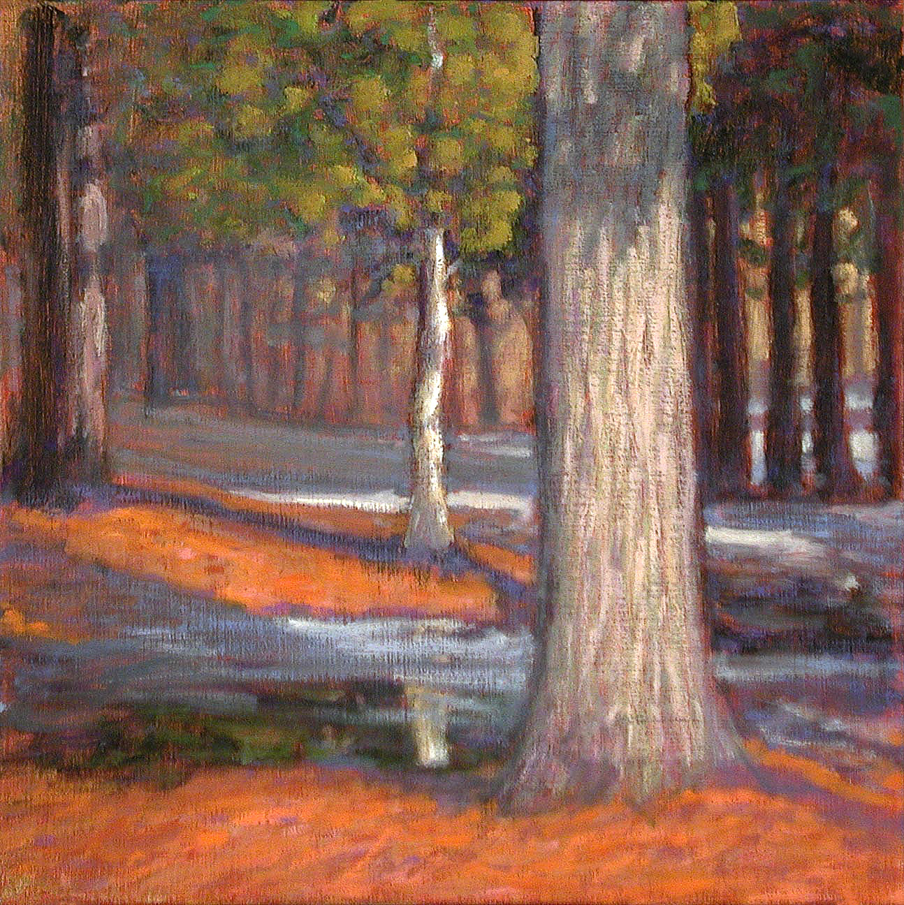 Gross Park   | oil on linen | 12 x 12"