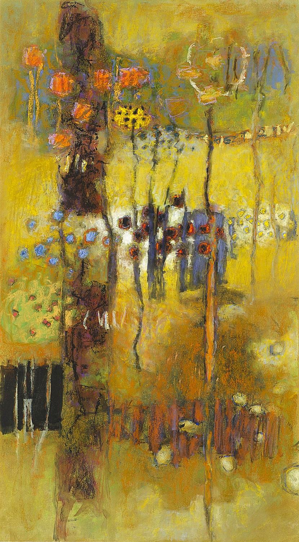 "Inherent Patterns  | pastel on paper | 36 x 20"" | 2014"