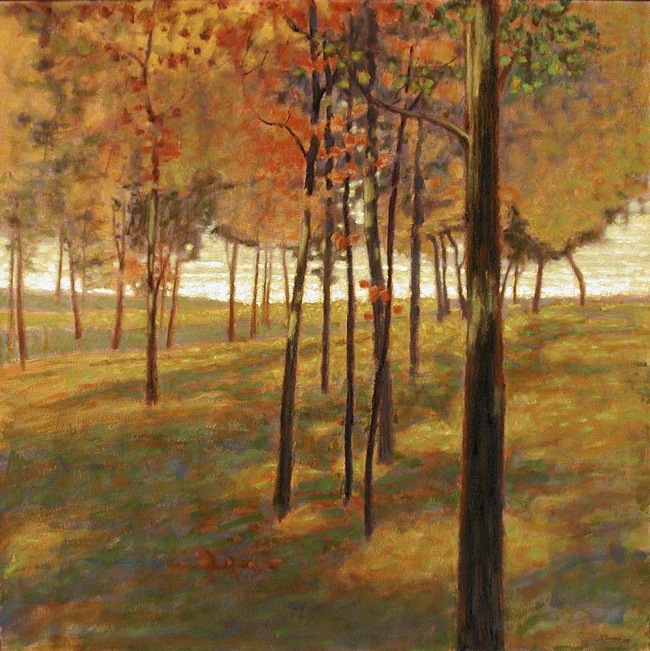 "107-04  | oil on canvas | 36 x 36"" | 2004"