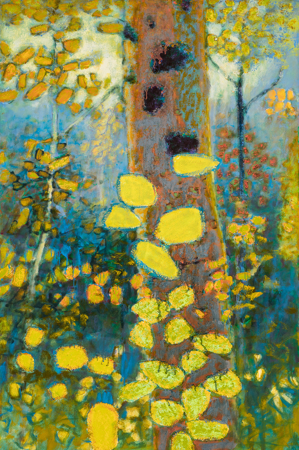 """Rhapsody in Blue and Yellow   oil on canvas   48 x 32"""""""