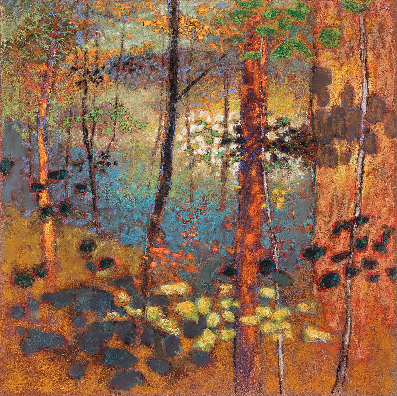 "Forest Ballad   pastel on paper   24 x 24"""