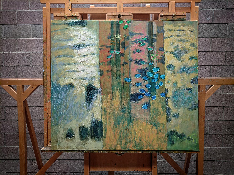 New oil painting underway at the studio in Santa Fe,NM