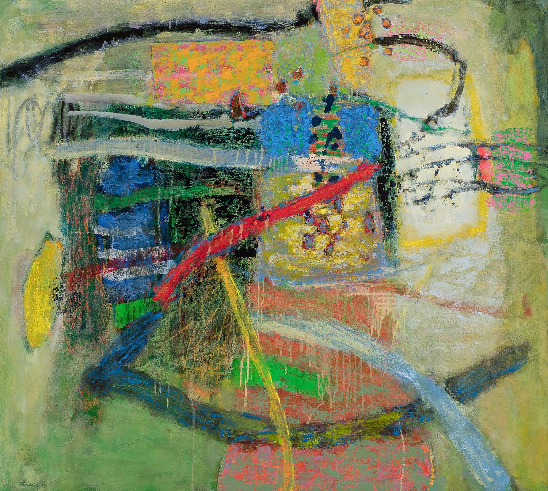 "Elastic Rhythm    oil on canvas   36 x 40""   2017"