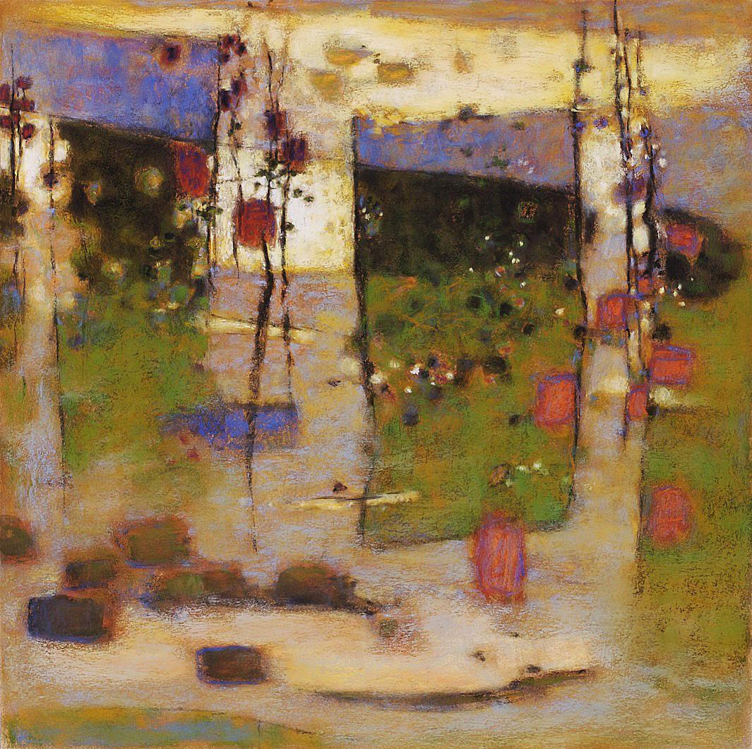"Terra Firma  | pastel on paper | 26 x 26"" | 2007"