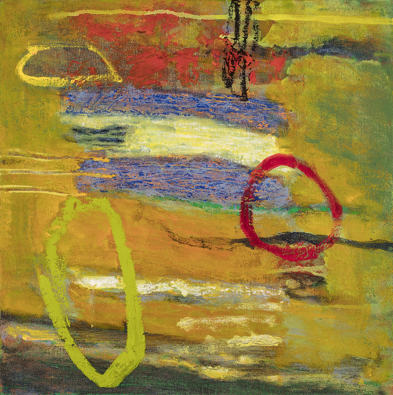 "Liquid Memory   oil on canvas   14 x 14"""