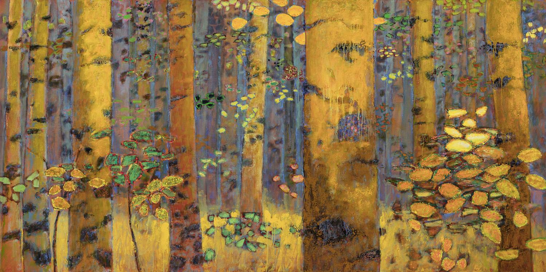 """Waldeinsamkeit II   oil on canvas   48 x 96"""""""