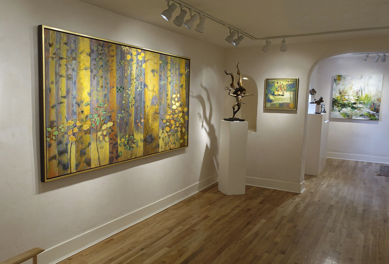 Rick's latest large oil painting at Hunter Kirkland Contemporary In Santa Fe, NM
