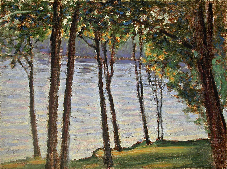 "Crockery Lake Shore  | oil on canvas | 12 x 16"" | 2002"