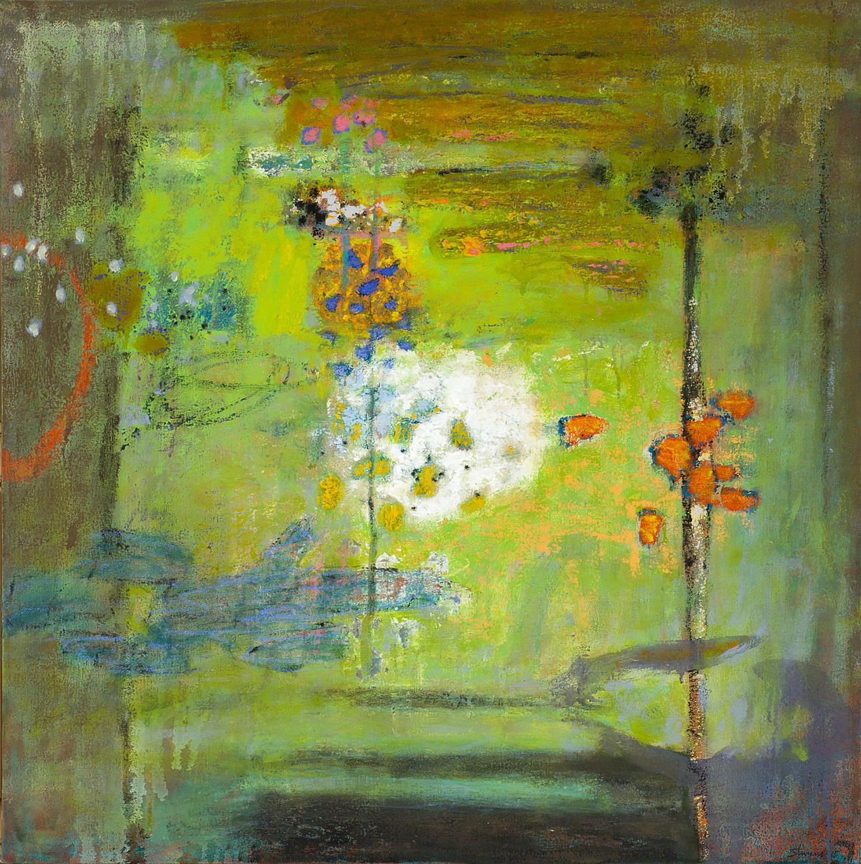 "Reciprocity  | oil on canvas | 30 x 30"" | 2015"