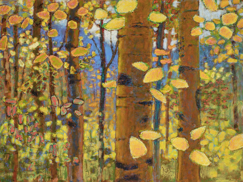 "Autumnal Aspens  | oil on canvas | 36 x 48"" | 2017"