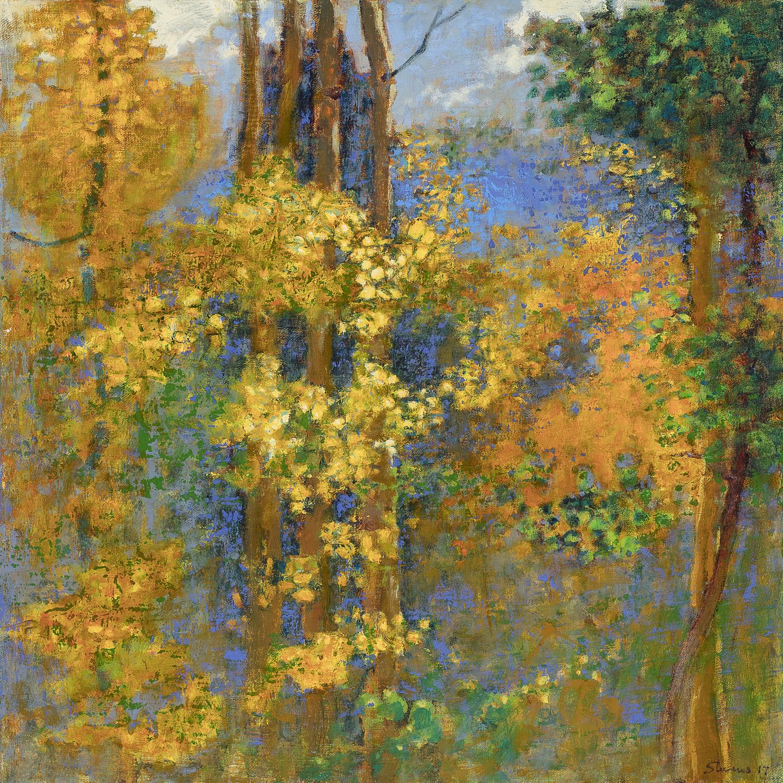 "Autumnal Impression | oil on linen | 18 x 18"" | 2017"