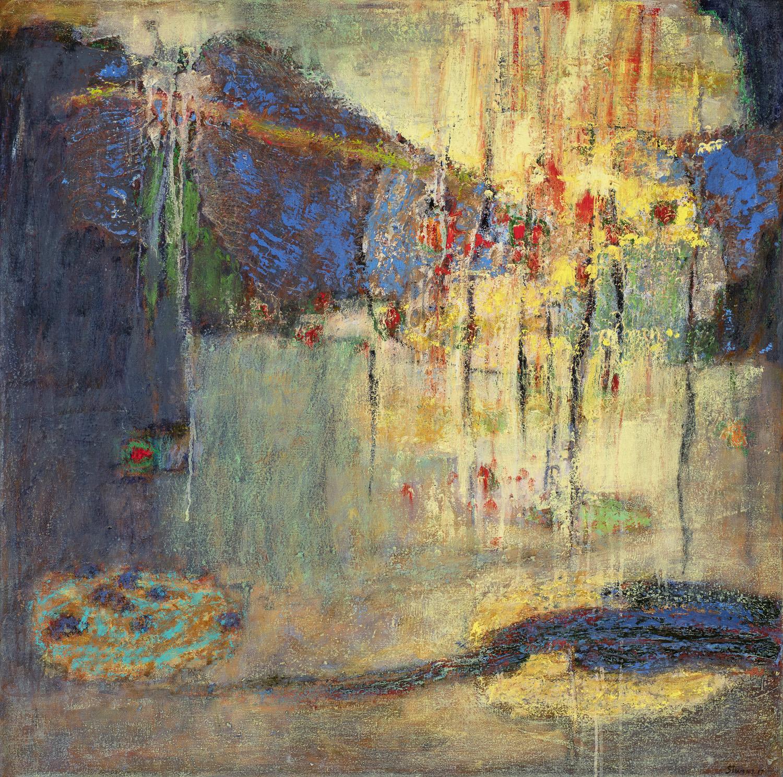 "Intercontinental   oil on canvas   36 x 36"""