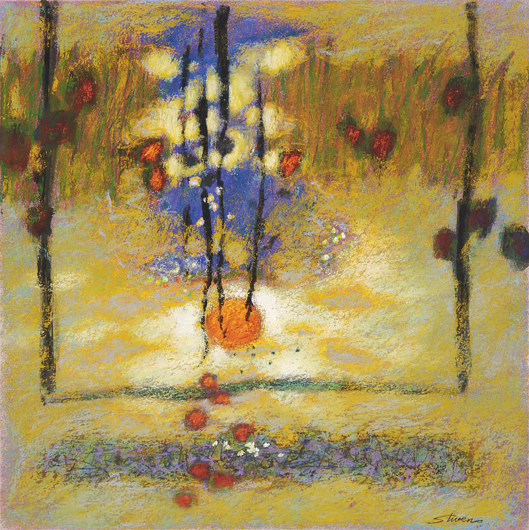 Morning Song  | pastel on paper | 14 x 14"