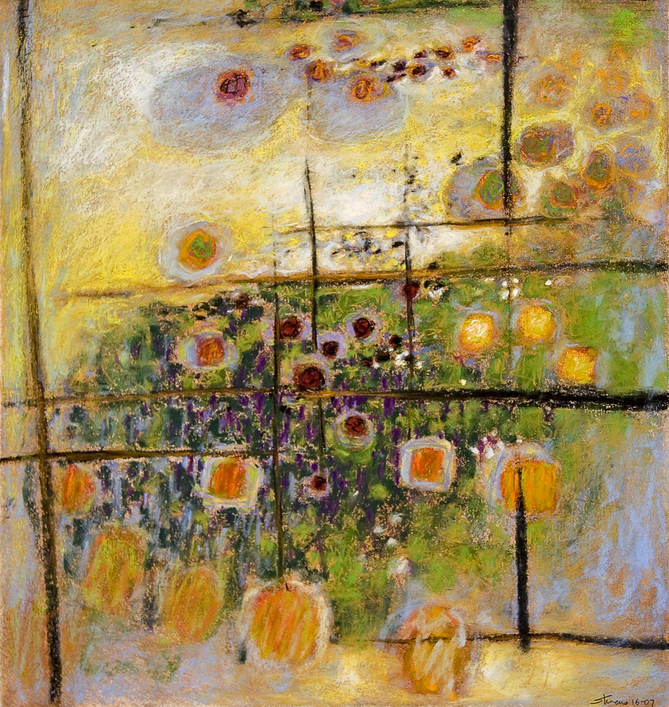 "16-07   | pastel on paper | 20 x 18"" | 2007"