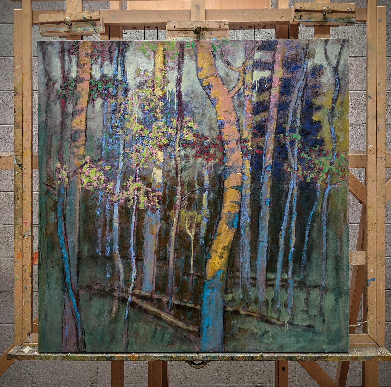 large oil on canvas in progress in Santa Fe studio.