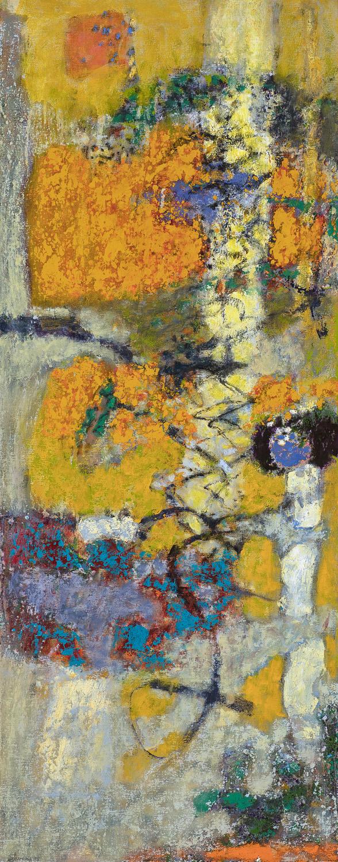"Interwoven Paths  | oil on canvas | 48 x 19"" | 2018"