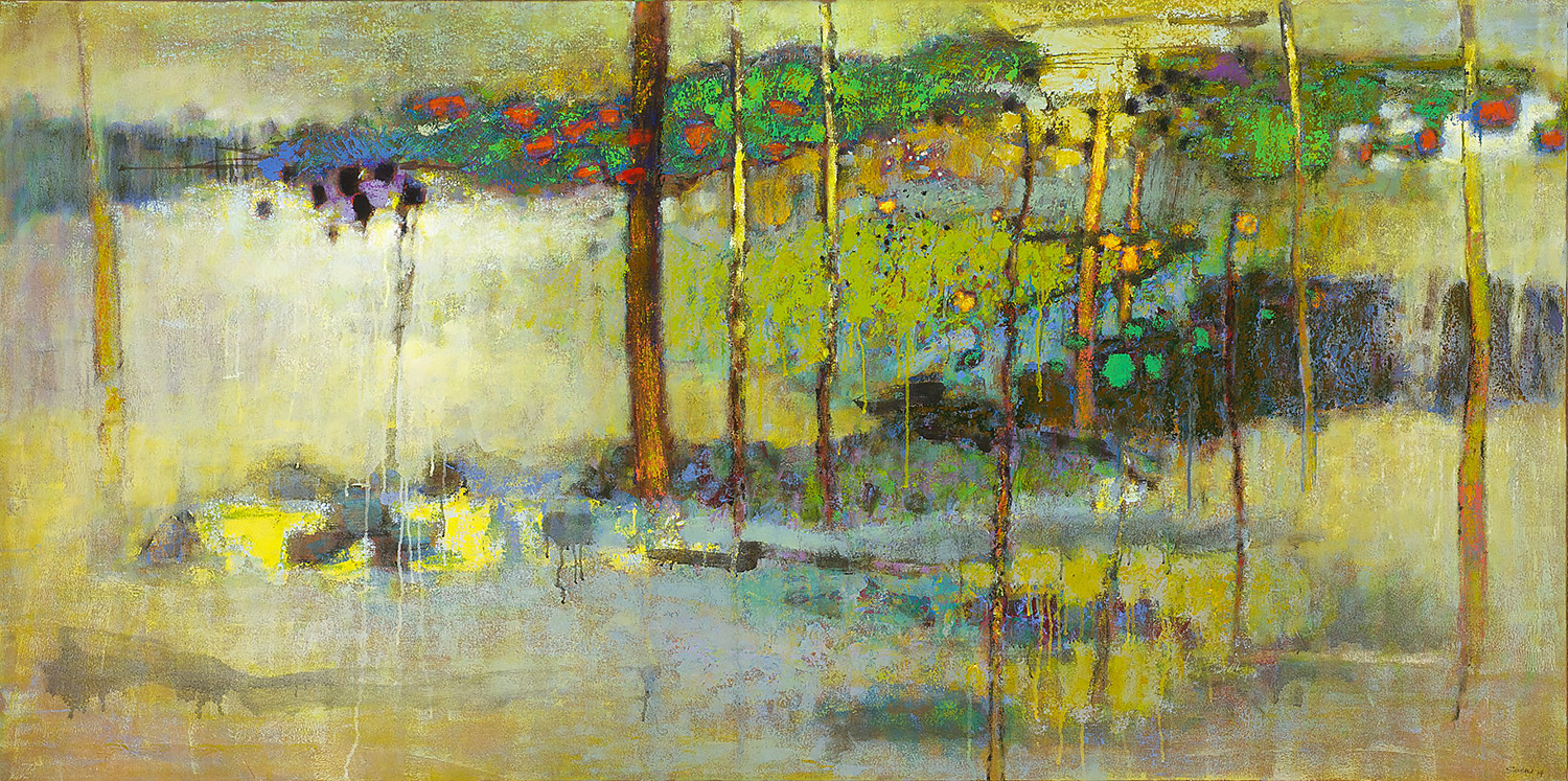 Somewhere in May   | oil on canvas | 36 x 72"
