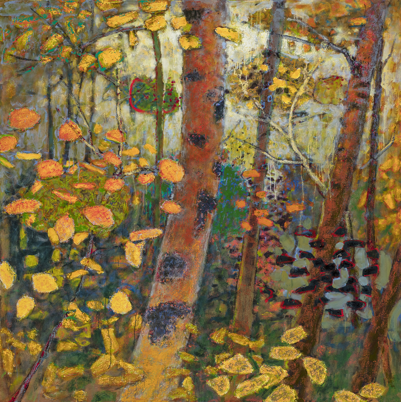 "Autumn Breezes    oil on canvas   48 x 48""   2018"