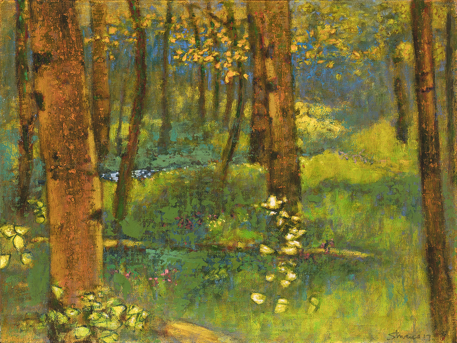 Deep Woods Creek  | oil on linen | 12 x 16"