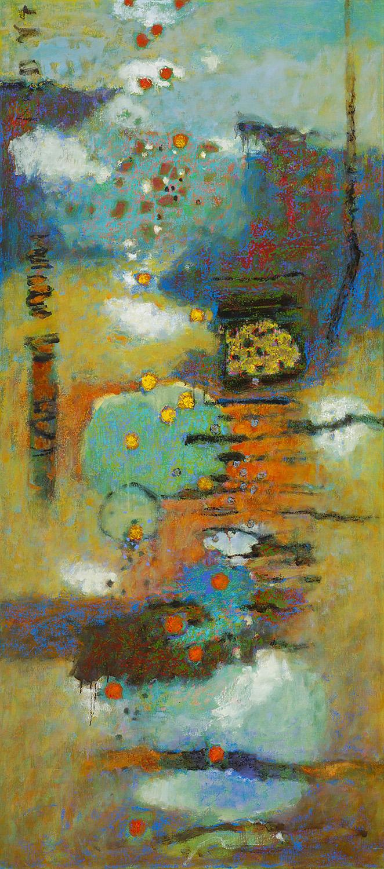 "Floatation  | oil on canvas | 72 x 32"" | 2015"