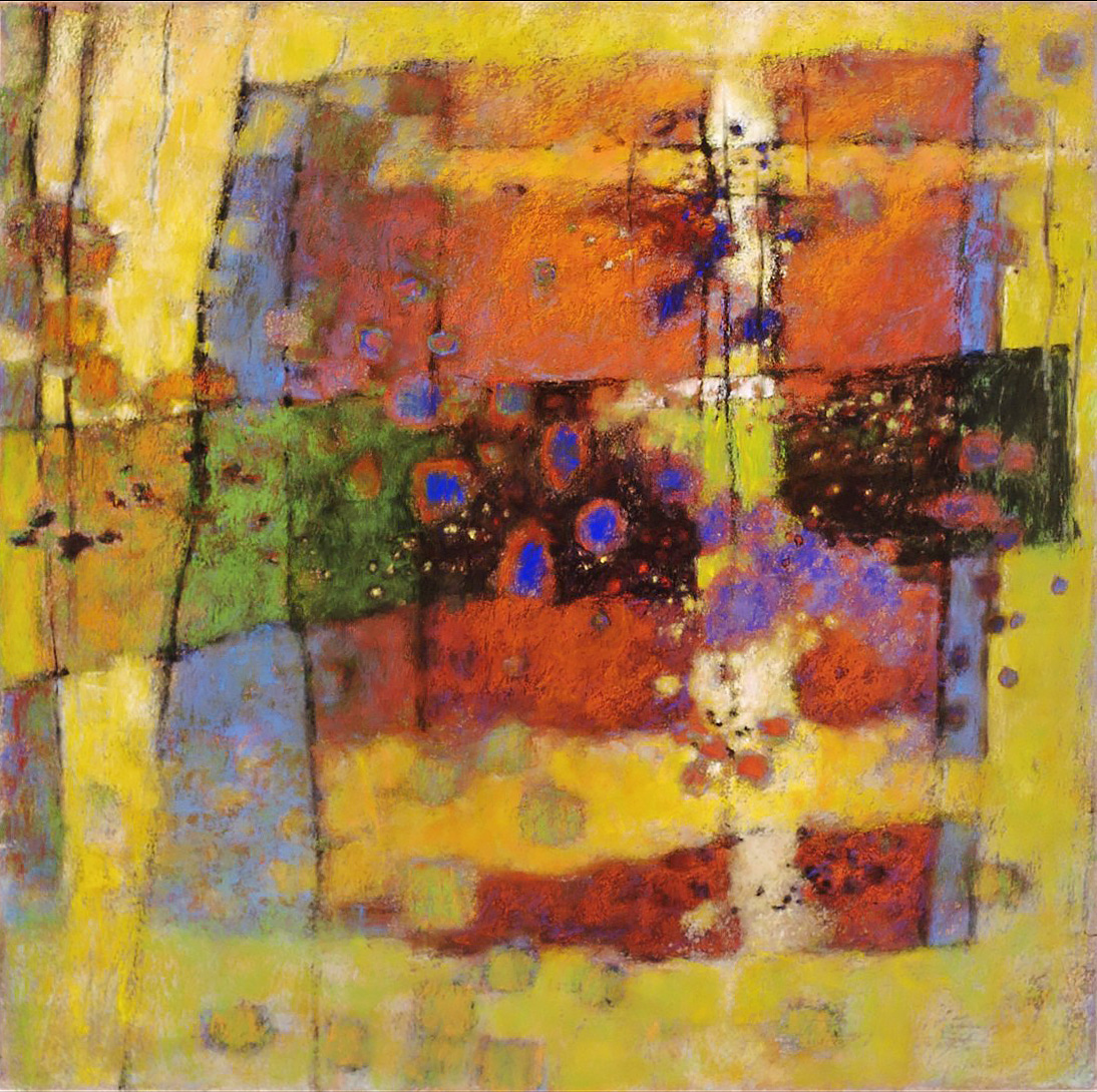Internal Brightness   | pastel on paper | 26 x 26"