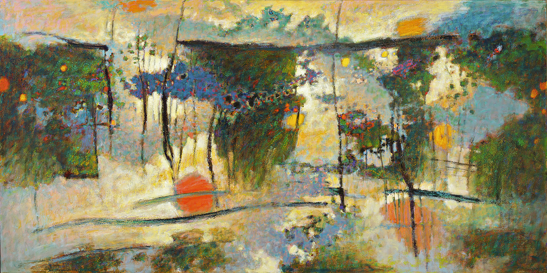 "The Mind's Eye  | oil on canvas | 48 x 96"" | 2009"