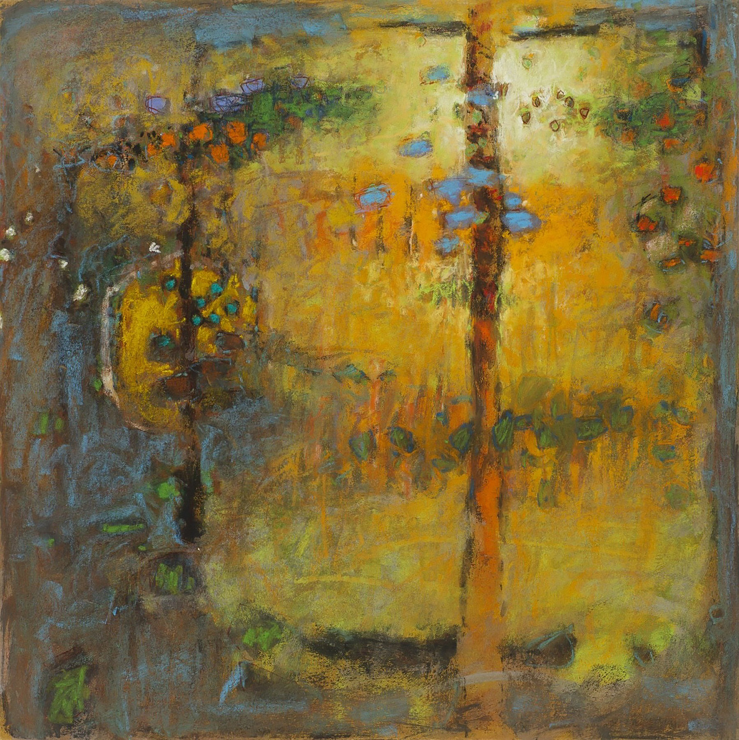 A Glimmer of Memory  | pastel on paper | 14 x 14"