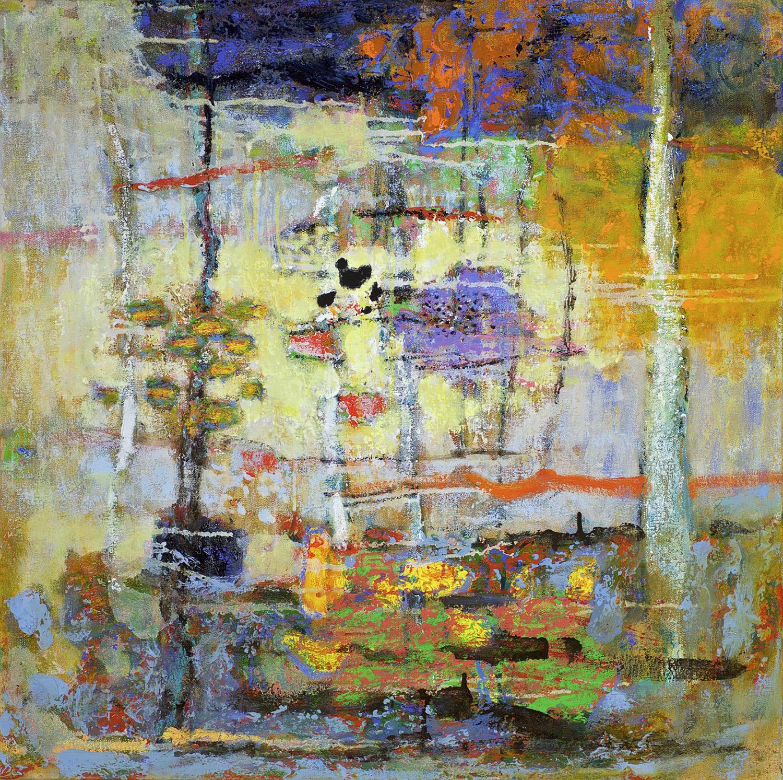 "Open Circuitry  | oil on canvas | 28 x 28"" | 2015"