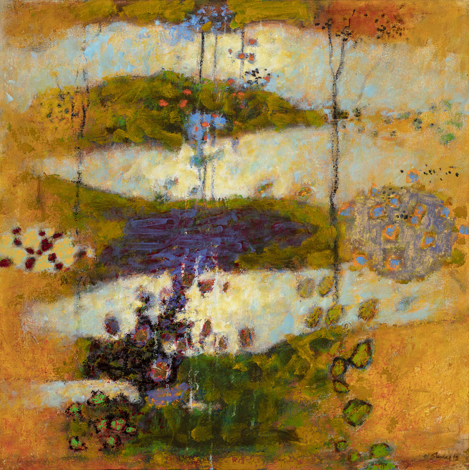 Secret Story  | oil on canvas | 32 x 32"