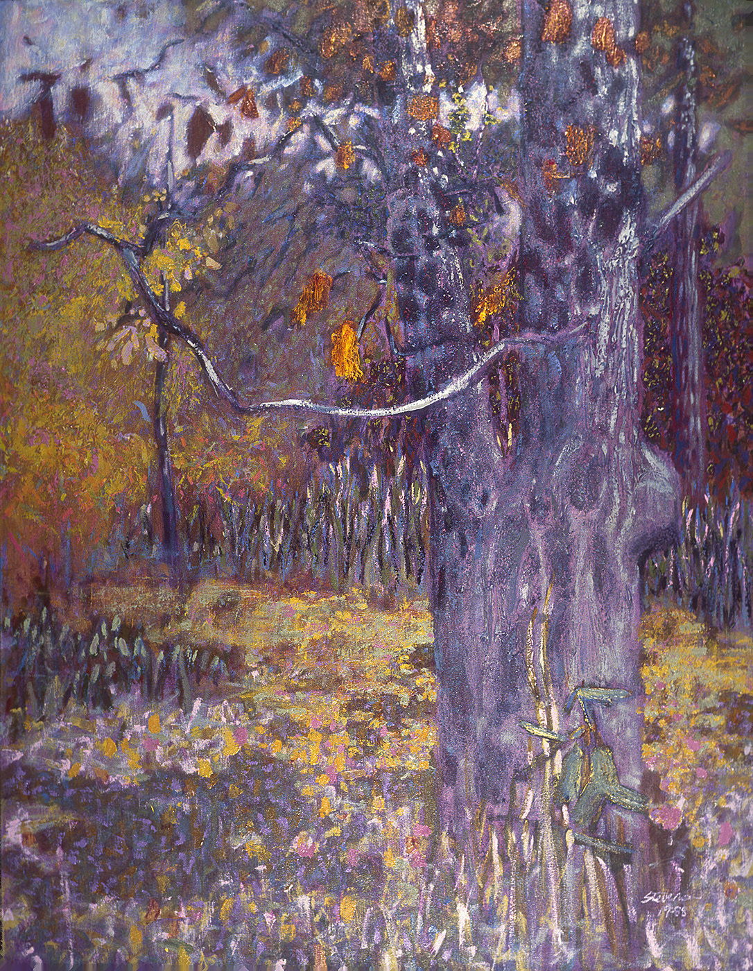 Autumn Oak  | oil on canvas | 55 x 43"