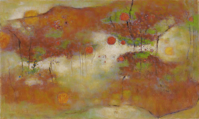 "Westerly Prayer  | pastel on paper | 24 x 40"" | 2008"