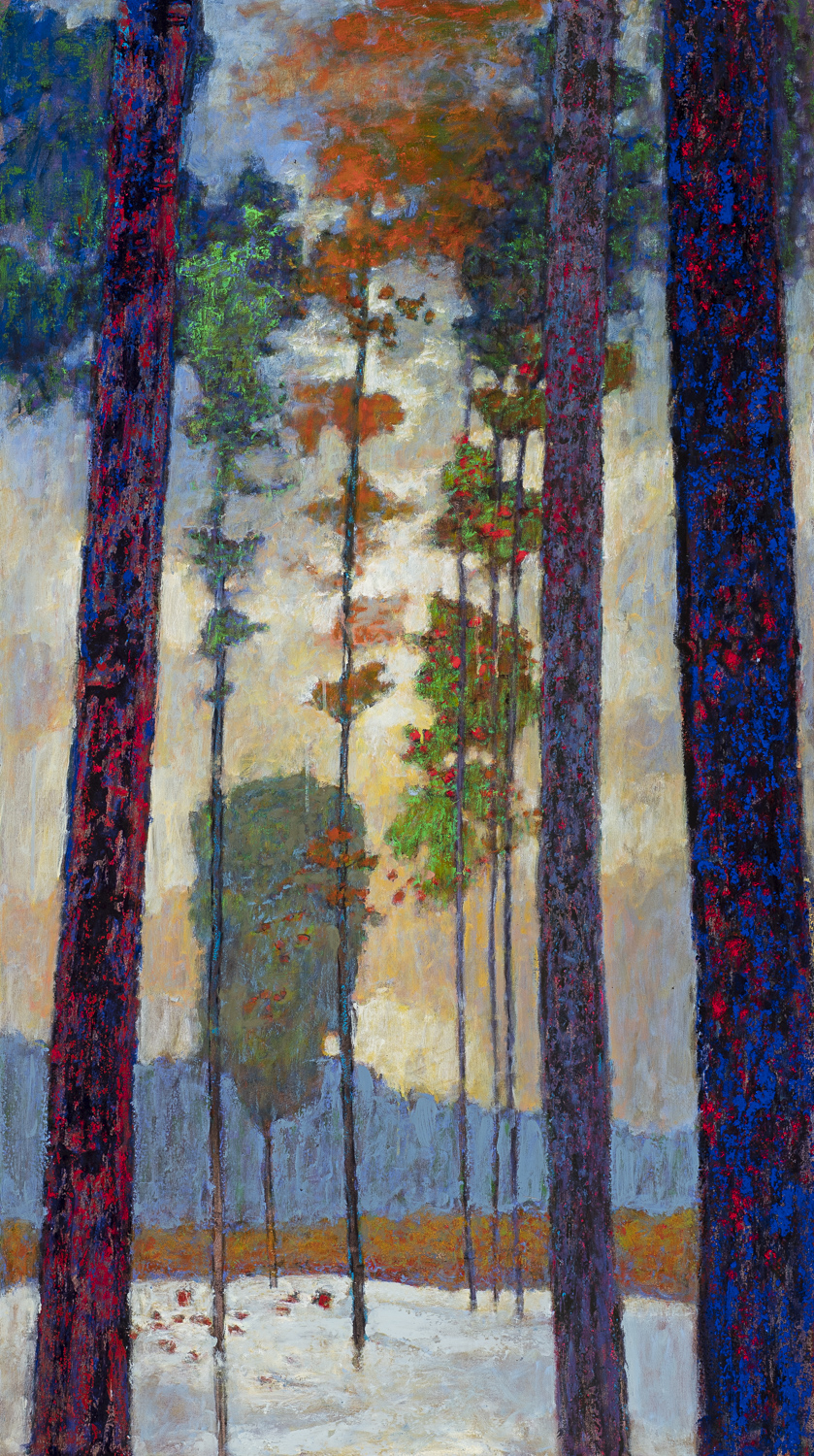 Verticality | oil on canvas | 65 x 36"