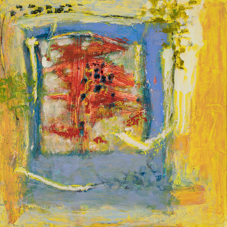 """Exuberant    oil on panel   18 x 18""""   2018"""