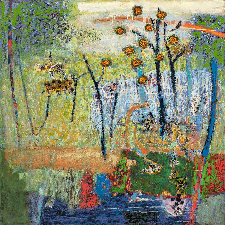 "Resonance  | oil on canvas | 48 x 48"" | 2018"