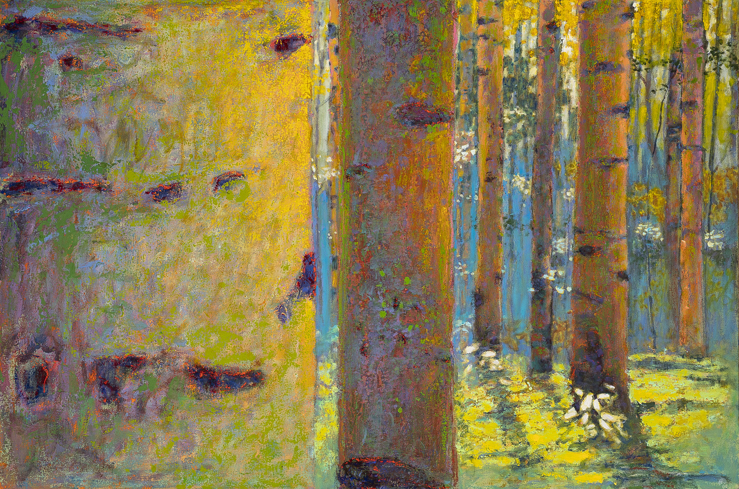 Luminescing Aspens  | oil on canvas | 36 x 54"