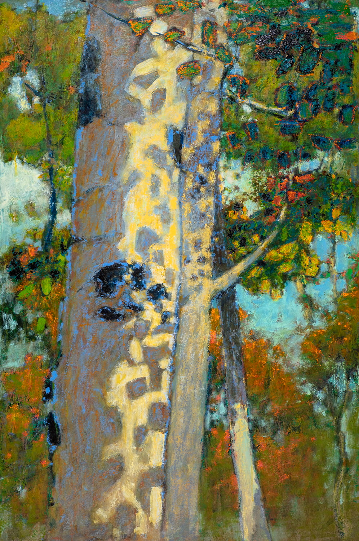 "Leafy Shadows  | oil on canvas | 48 x 32"""