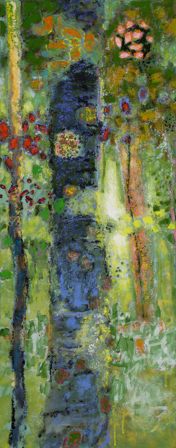 Pierced by the Morning Light  | oil on canvas | 48 x 19"