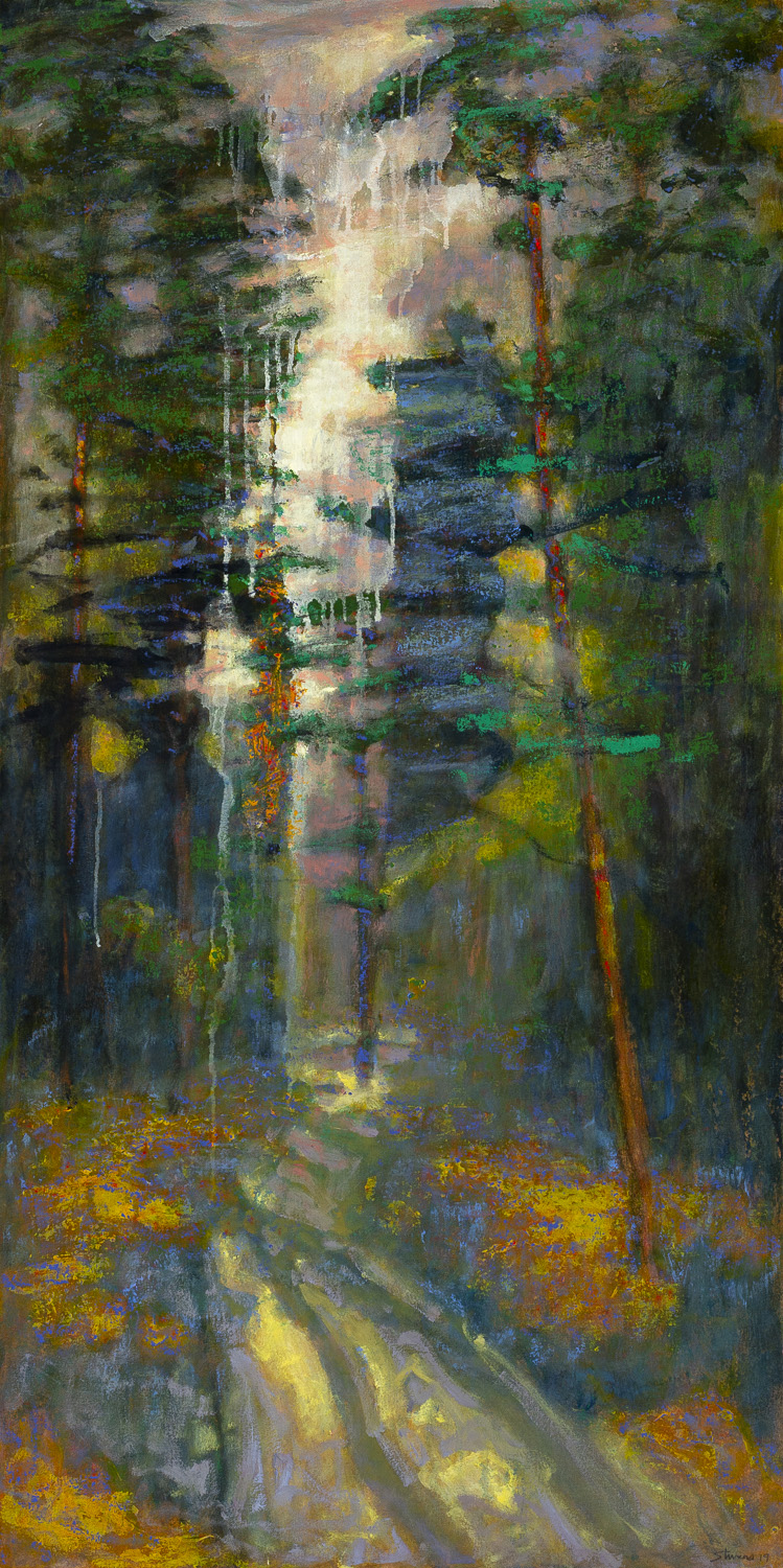 "Pathway to Wilderness  | oil on canvas | 48 x 24""  SOLD"