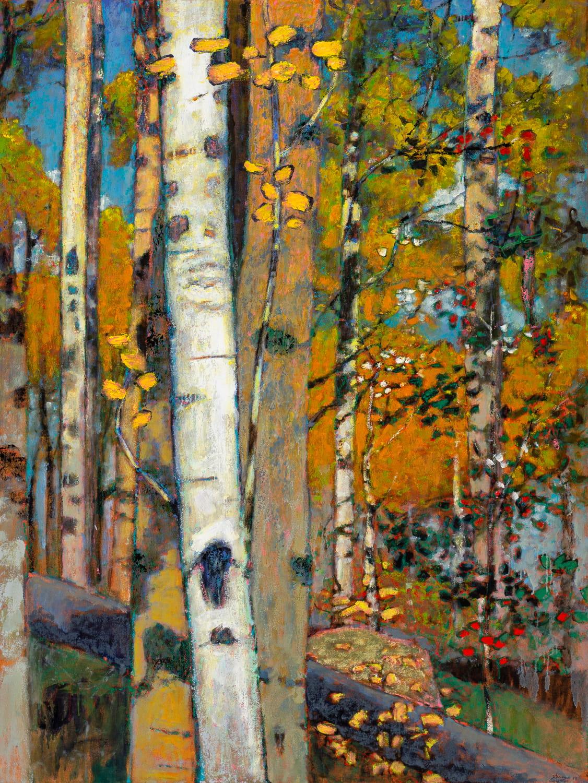 "Rocky Mountain Aspens  | oil on canvas | 64 x 48"""